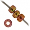 Miyuki Seed Bead 11/0 Dark Topaz Rainbow Gold Luster
